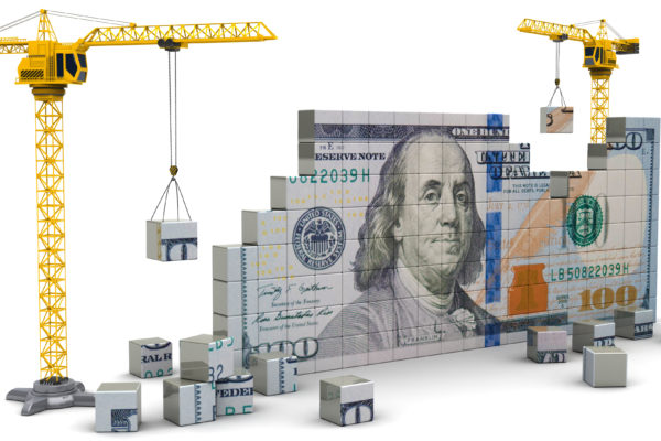 Picture of Cranes Building Money